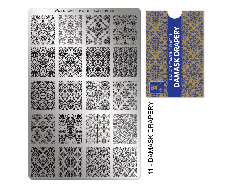 Пластина для стемпинга Moyra - Damask drapery