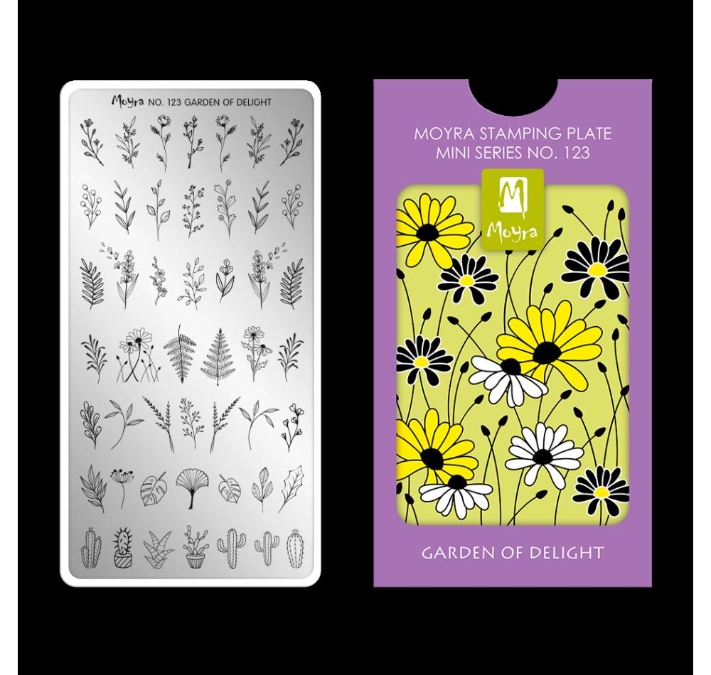 Пластина для стемпинга Moyra mini  - Garden of Delight