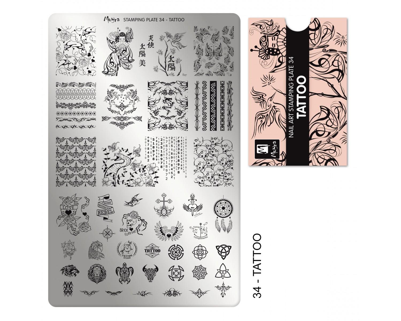 Пластина для стемпинга Moyra - Tattoo