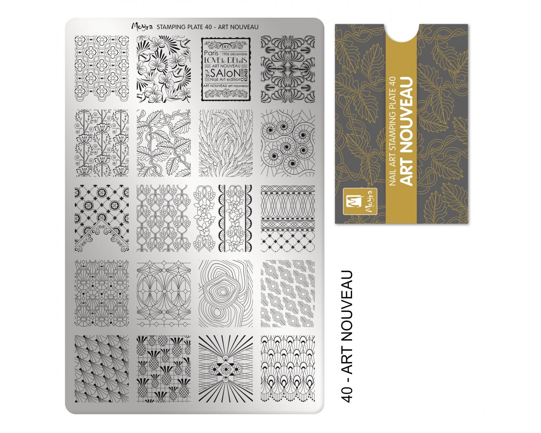 Пластина для стемпинга Moyra - Art Nouveau