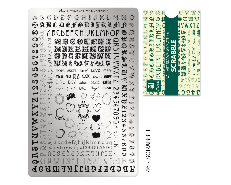 Пластина для стемпинга Moyra - Scrabble