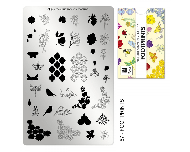 Пластина для стемпинга Moyra - Footprints