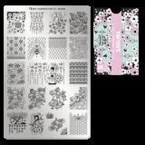 Пластина для стемпинга Moyra - Sakura