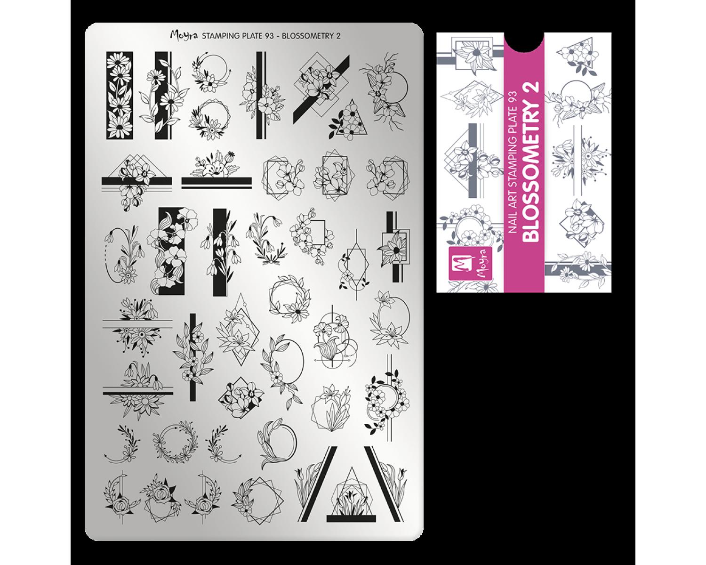 Пластина для стемпинга Moyra - Blossometry 2