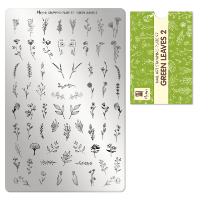 Пластина для стемпинга Moyra - Green Leaves 2