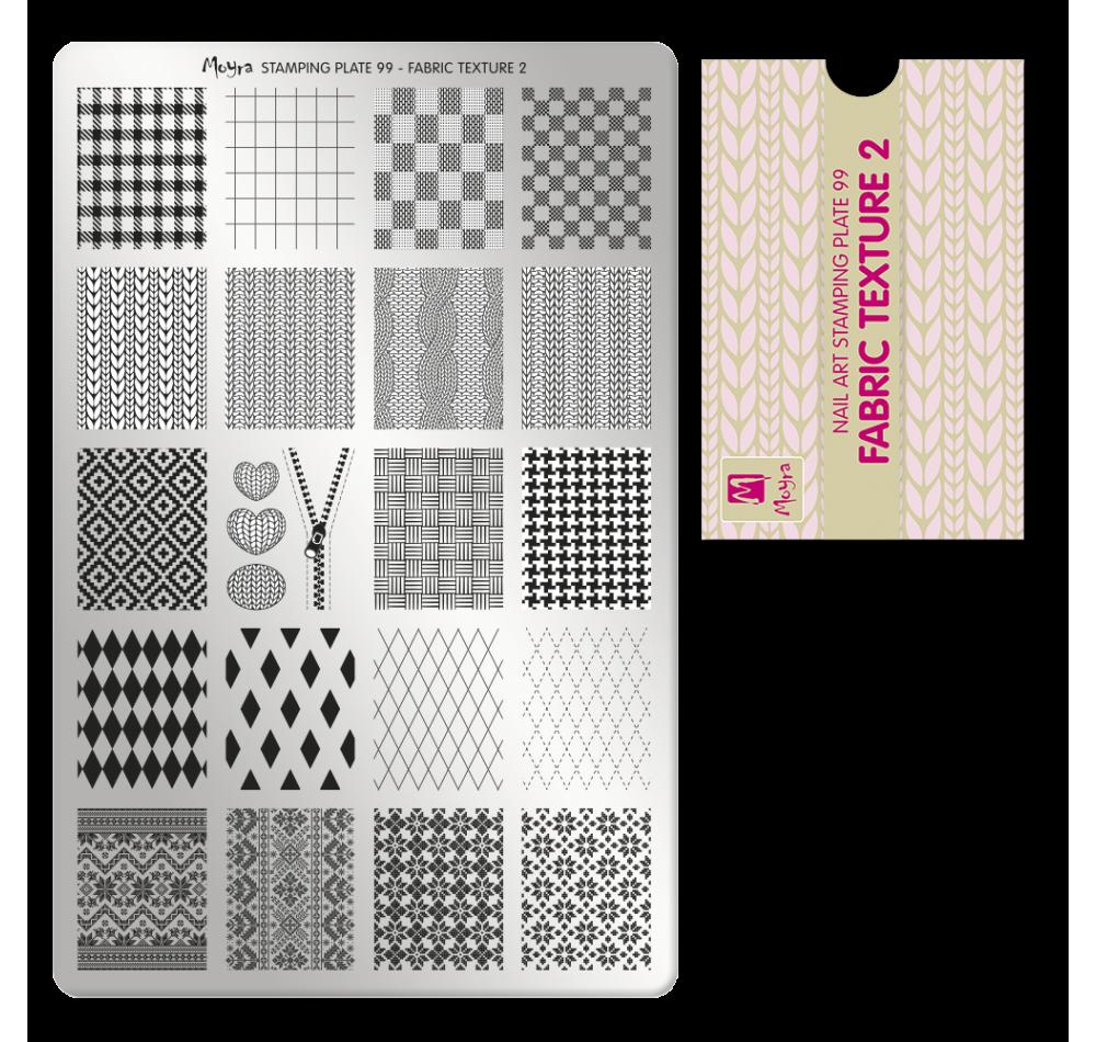 Пластина для стемпинга Moyra - Fabric Texture 2