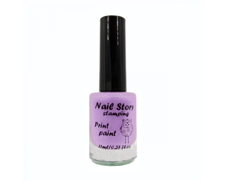Лак для стемпинга Nail Story - нежно-сиреневый