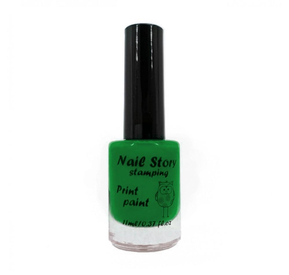 Лак для стемпинга Nail Story - зелёный весенний