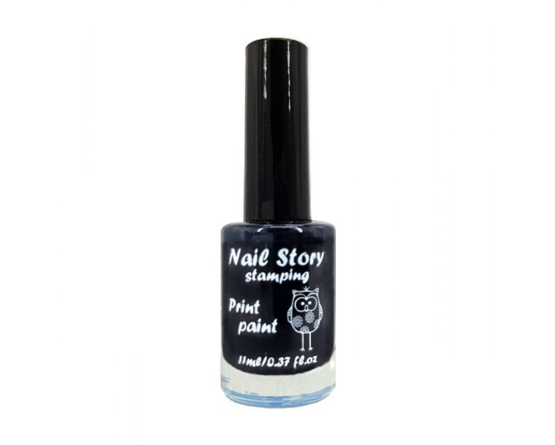 Лак для стемпинга Nail Story - черный