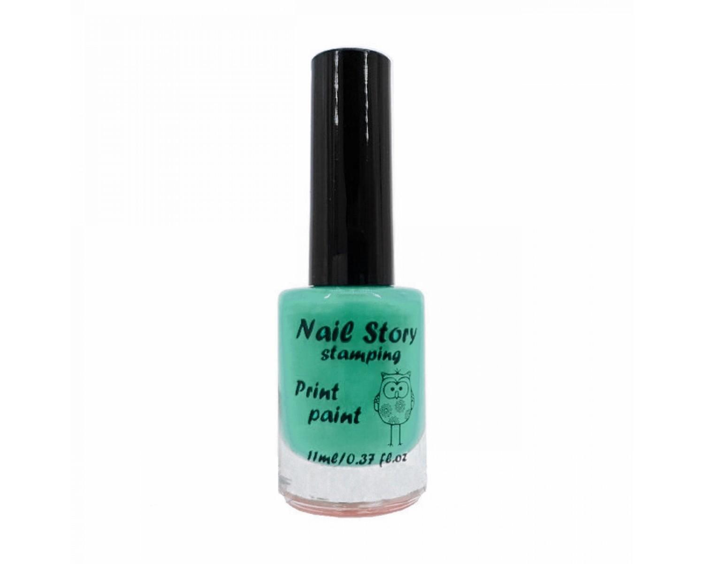Лак для стемпинга Nail Story - мятный