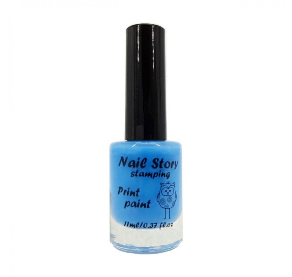 Лак для стемпинга Nail Story - голубой
