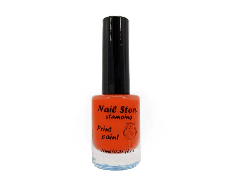 Лак для стемпинга Nail Story - оранжевый