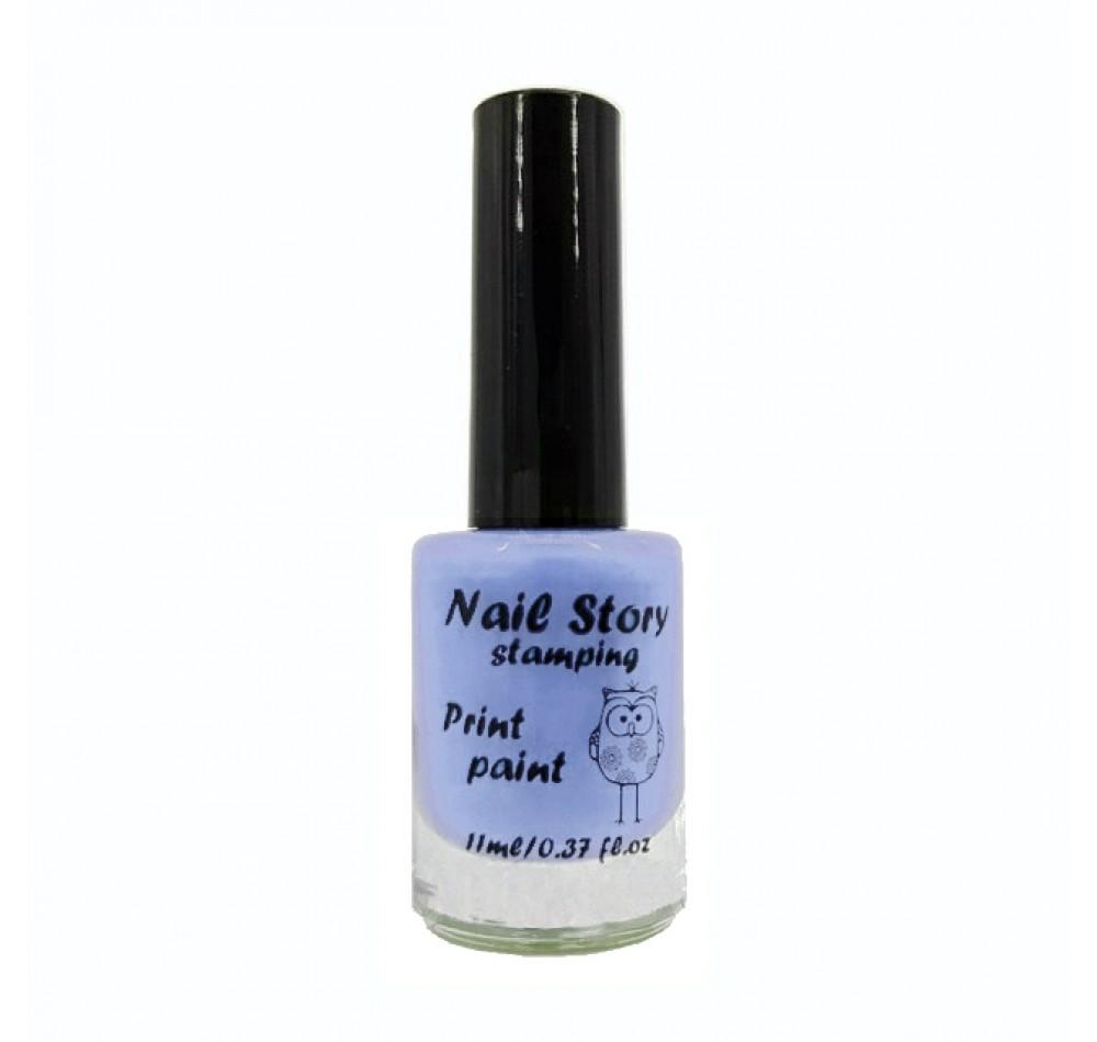 Лак для стемпинга Nail Story - небесно-голубой