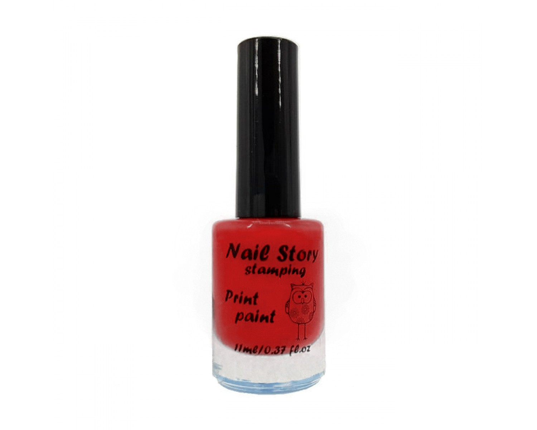 Лак для стемпинга Nail Story - красный