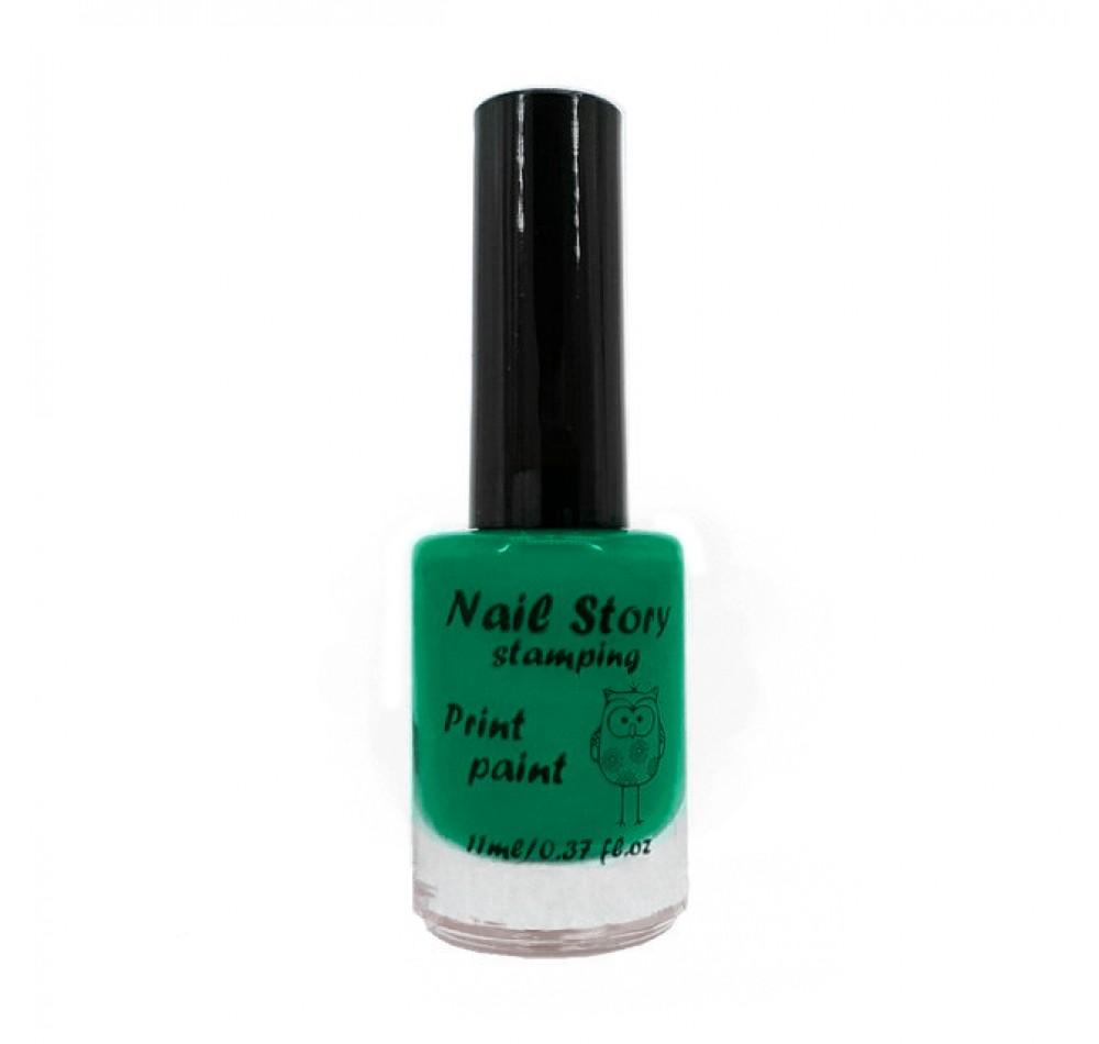 Лак для стемпинга Nail Story - изумрудно-зелёный