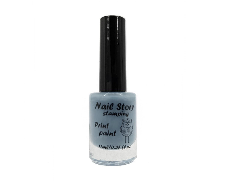 Лак для стемпинга Nail Story - серый