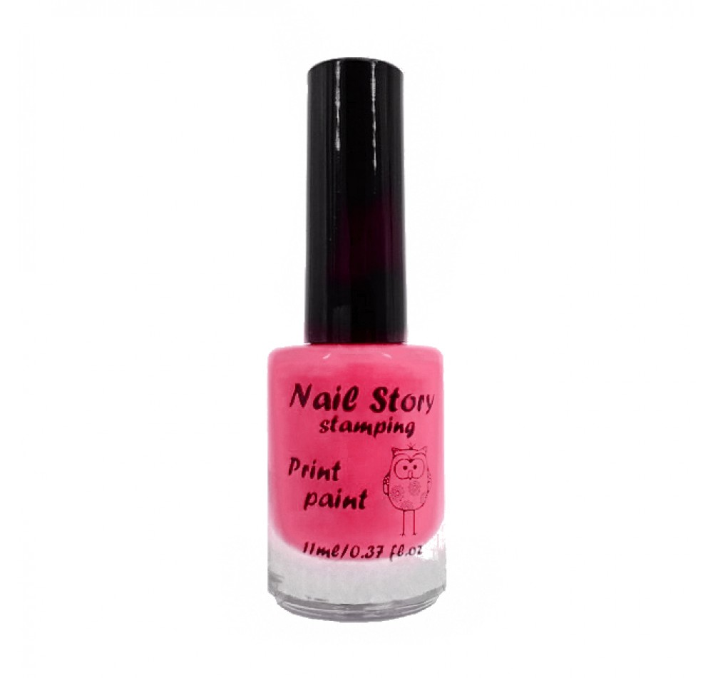 Лак для стемпинга Nail Story - ярко-розовый