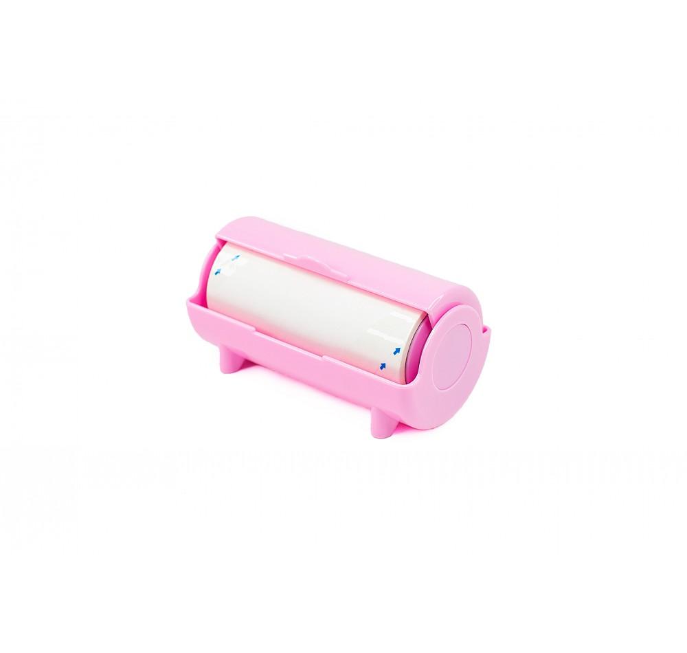 Ролик в корпусе для очистки штампа - розовый