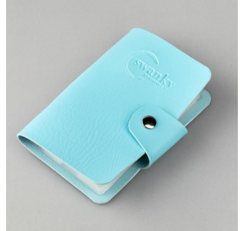 Кейс для пластин Swanky Stamping на 20 пластин, голубой