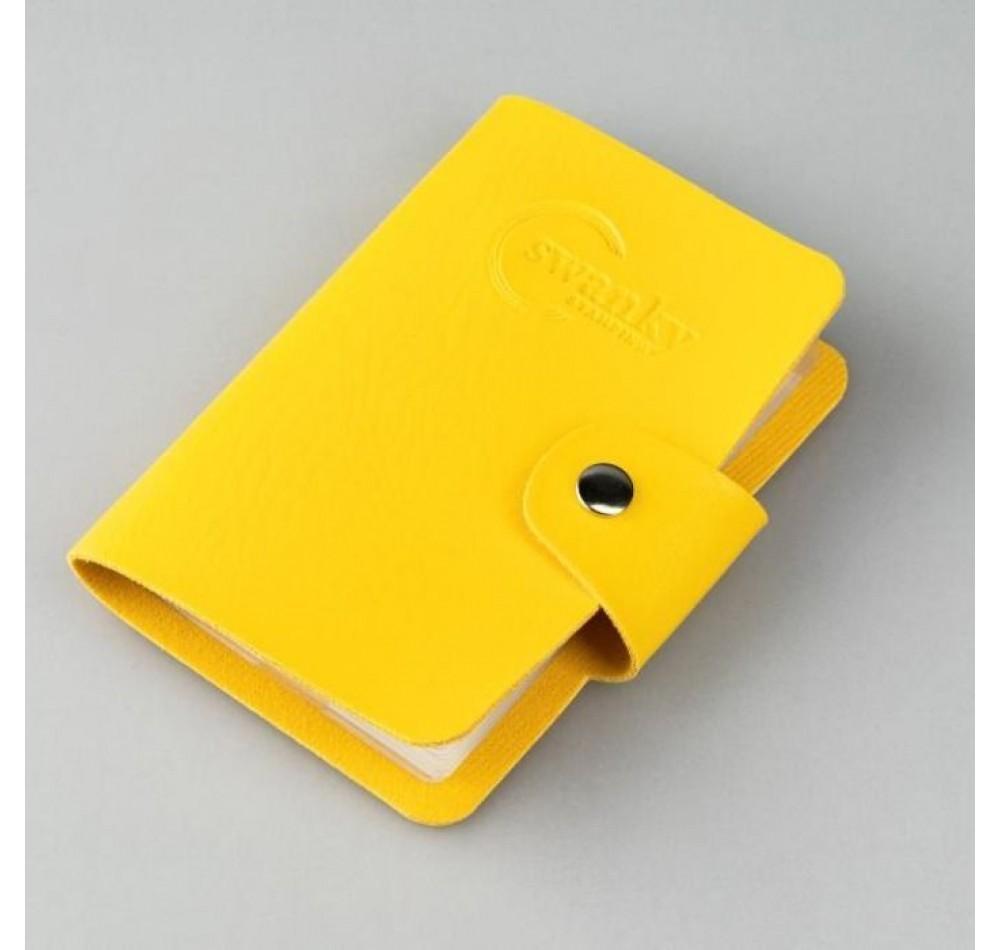 Кейс для пластин Swanky Stamping на 20 пластин, желтый
