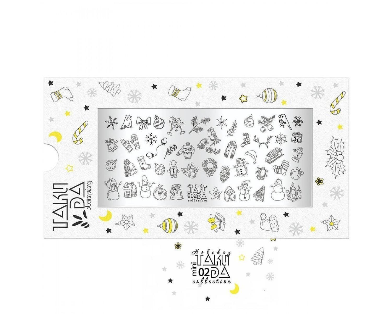 Пластина для стемпинга ТакиДа mini 02 Holiday Collection