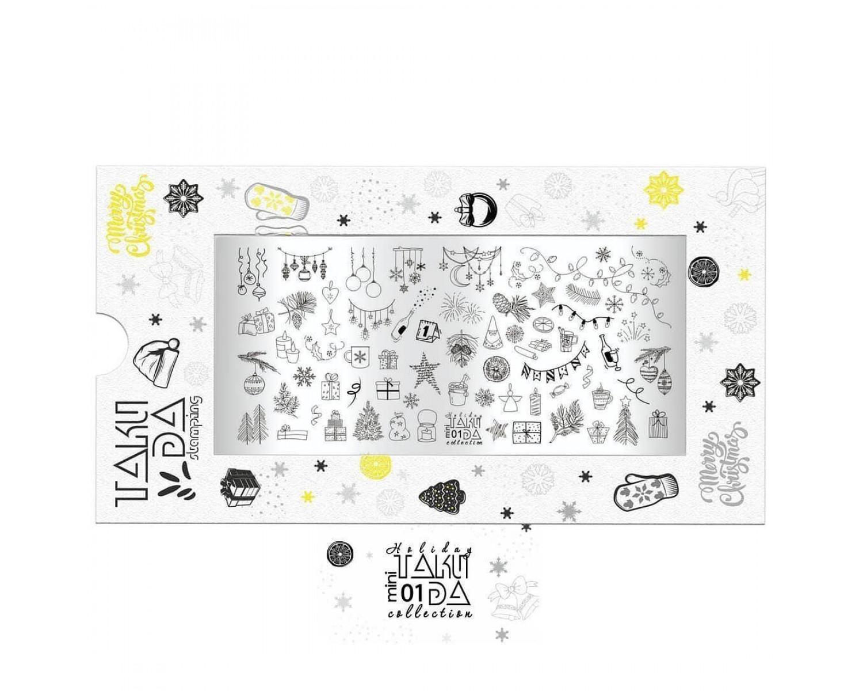 Пластина для стемпинга ТакиДа mini 01 Holiday Collection