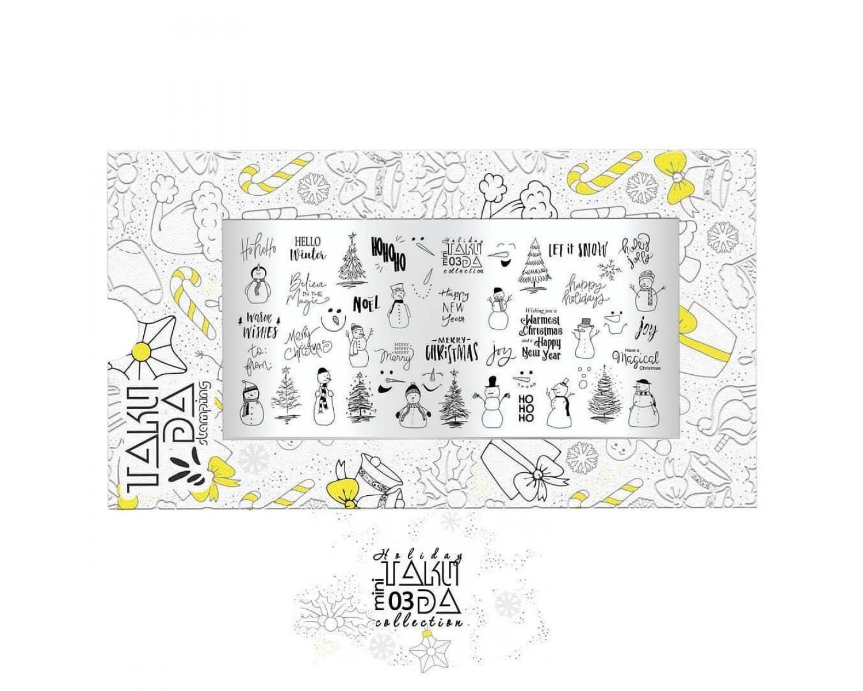 Пластина для стемпинга ТакиДа mini 03 Holiday Collection