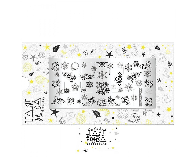 Пластина для стемпинга ТакиДа mini 04 Holiday Collection