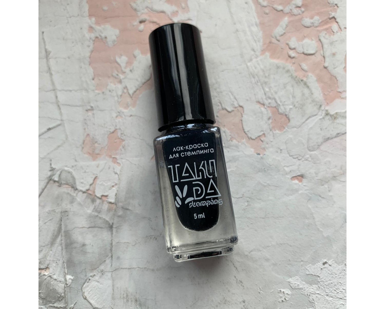 Лак для стемпинга TAKIDA 001 черный, 5мл