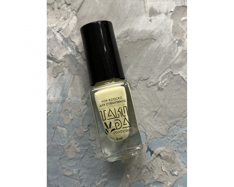 Лак для стемпинга TAKIDA 070 пастельно-желтый, 5мл