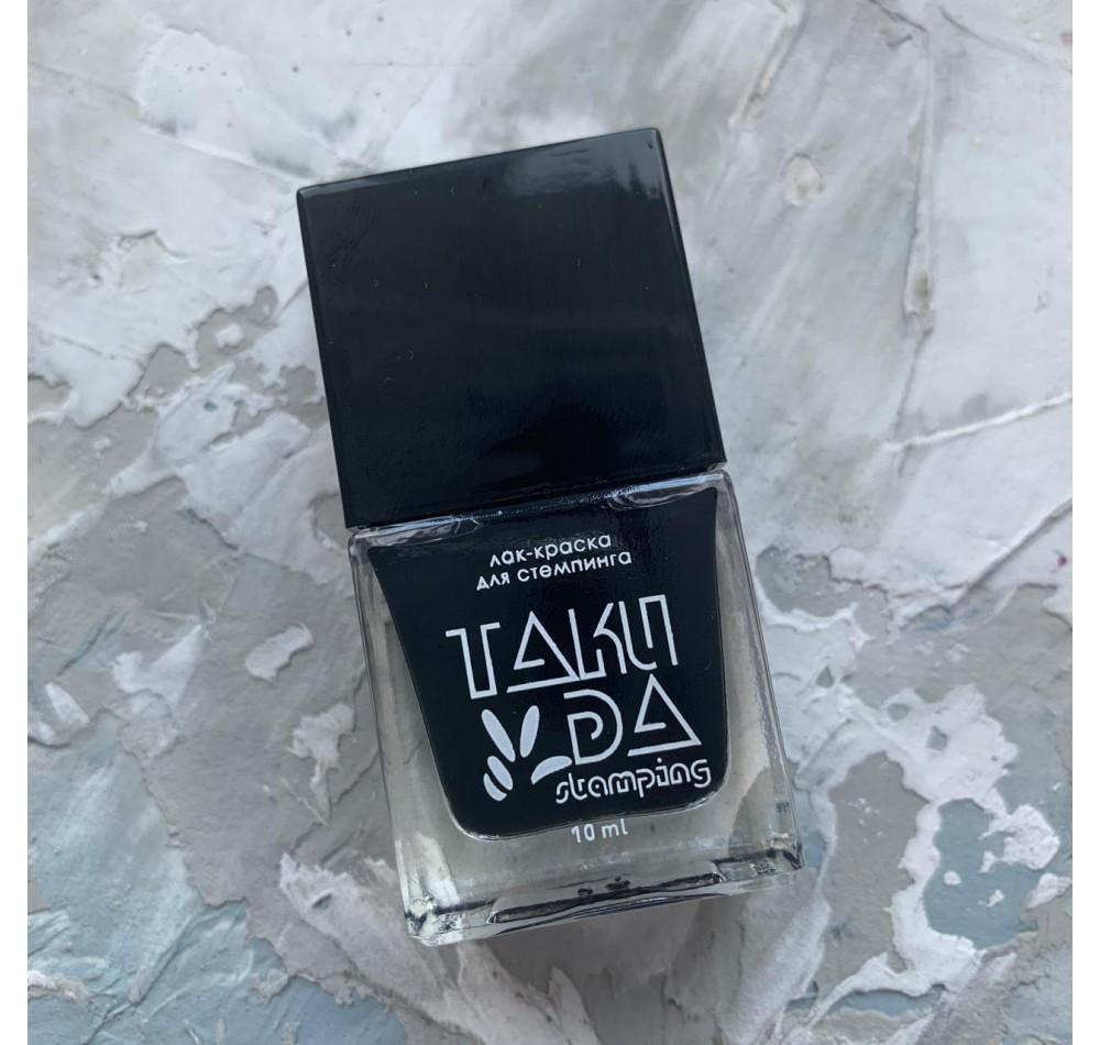 Лак для стемпинга TAKIDA 001 черный, 10мл
