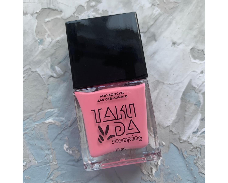 Лак для стемпинга TAKIDA 021 пастельно-розовый, 10мл