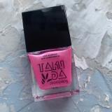 Лак для стемпинга TAKIDA 030 светло-розовый перл хром, 10мл