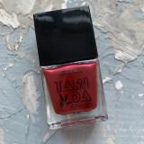 Лак для стемпинга TAKIDA 033 бордово-красный перл хром, 10мл