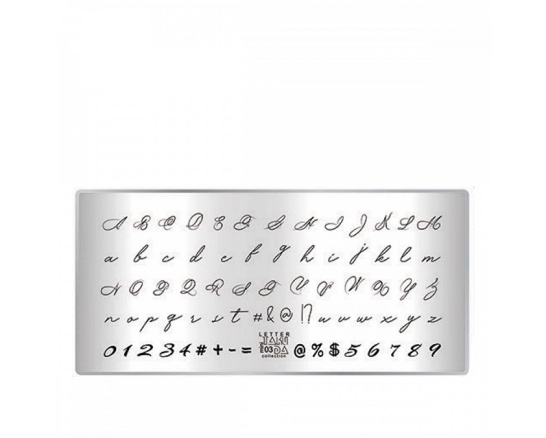 Пластина для стемпинга ТакиДа mini 03 Letter Collection