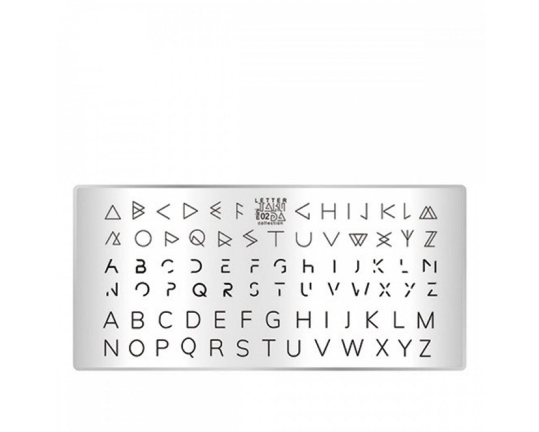 Пластина для стемпинга ТакиДа mini 02 Letter Collection
