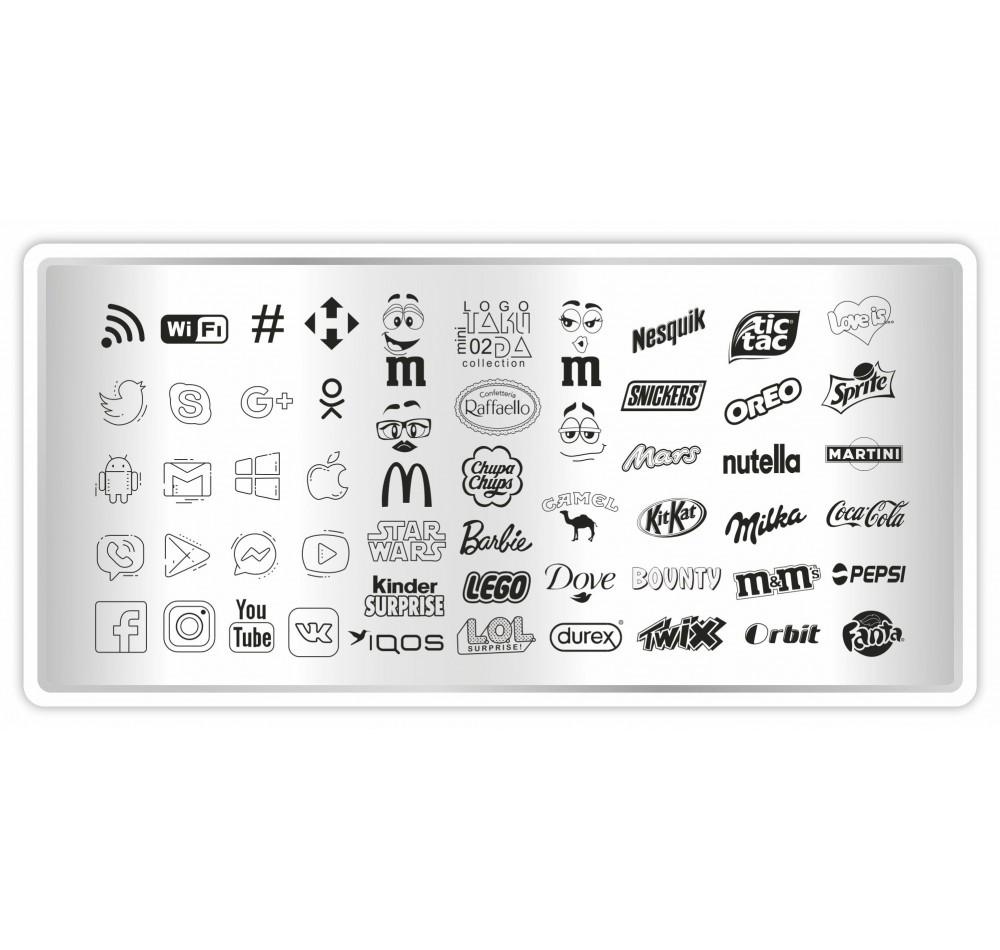 Пластина для стемпинга ТакиДа mini 02 LOGO Collection