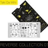 Пластина для стемпинга ТакиДа  mini 01 Reverse Collection