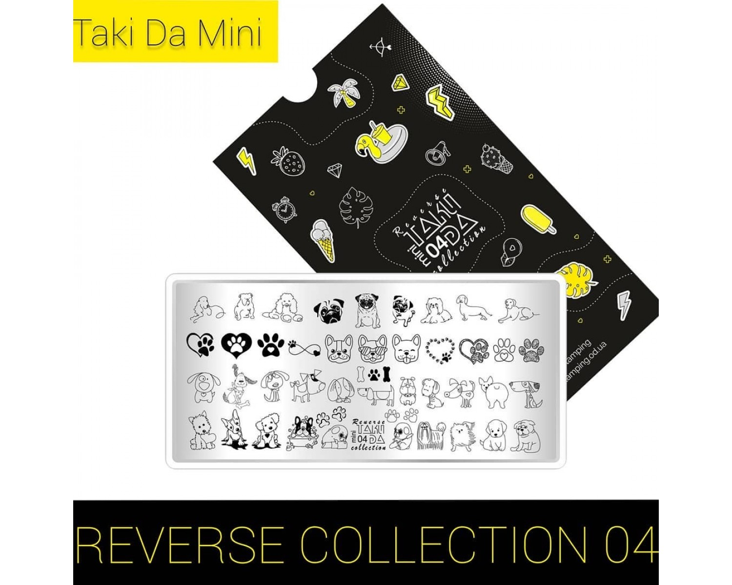 Пластина для стемпинга ТакиДа  mini 04 Reverse Collection