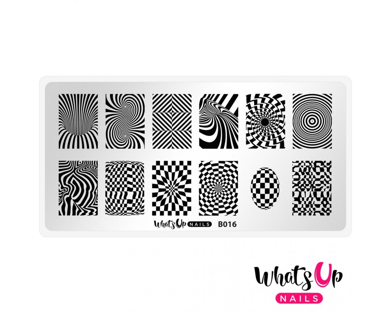 Пластина для стемпинга Whats Up Nails - B016 Hypnotic Illusions