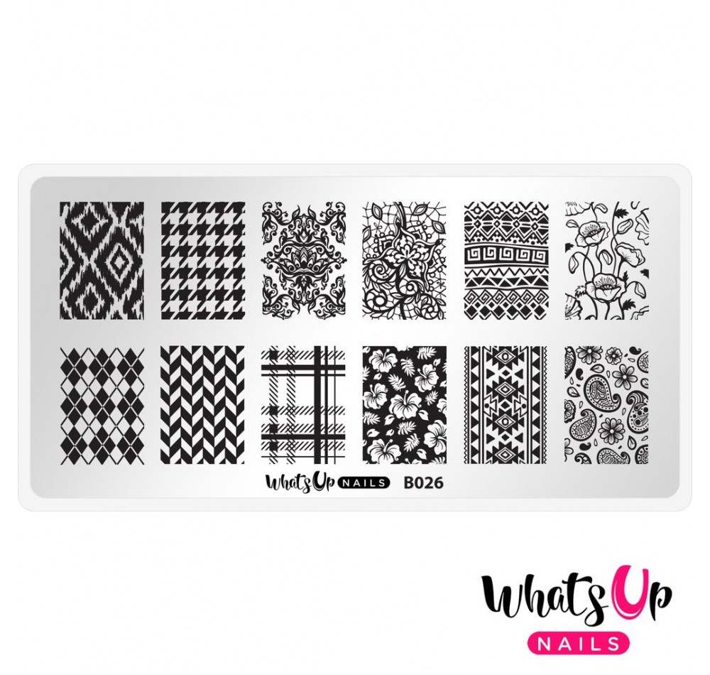 Пластина для стемпинга Whats Up Nails - B026 Fashion Prints