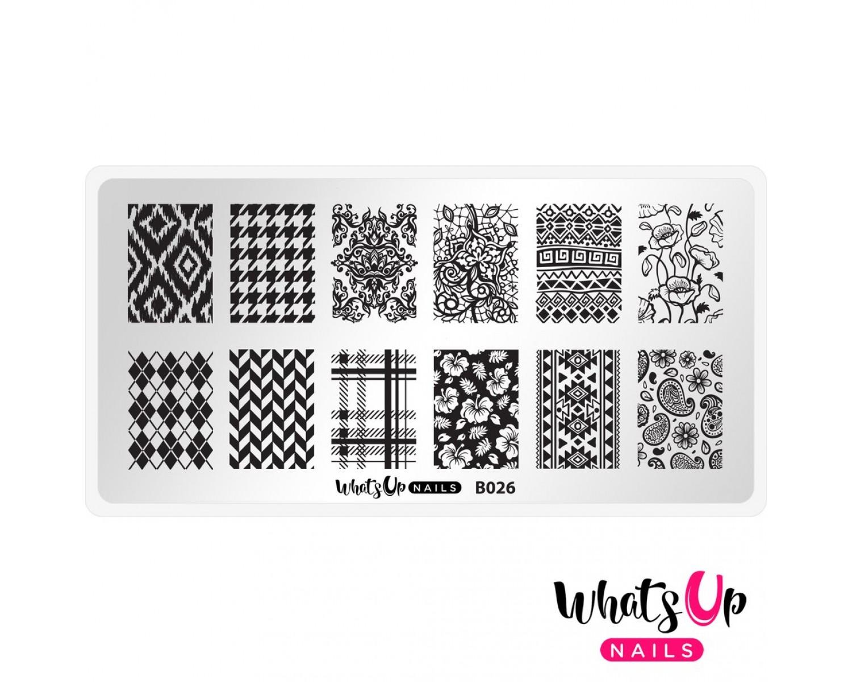 Пластина для стемпинга Whats Up Nails - B026 Fashion Prints