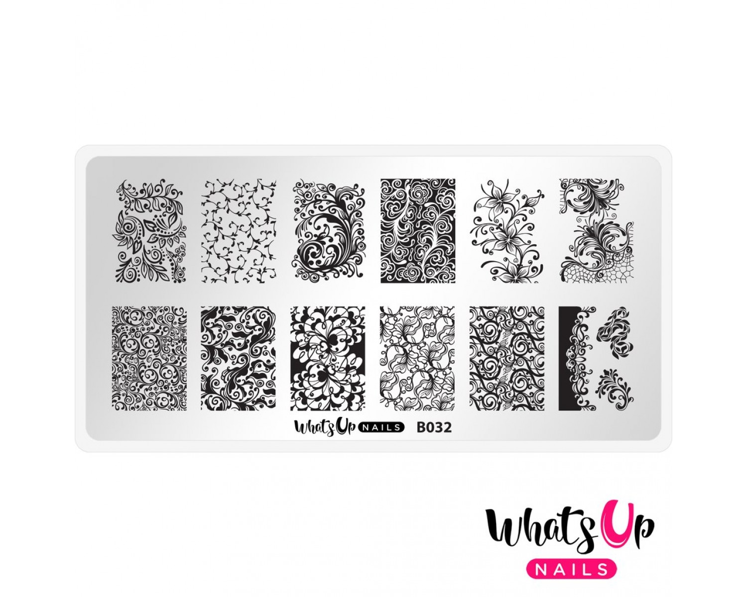 Пластина для стемпинга Whats Up Nails - B032 Floral Swirls