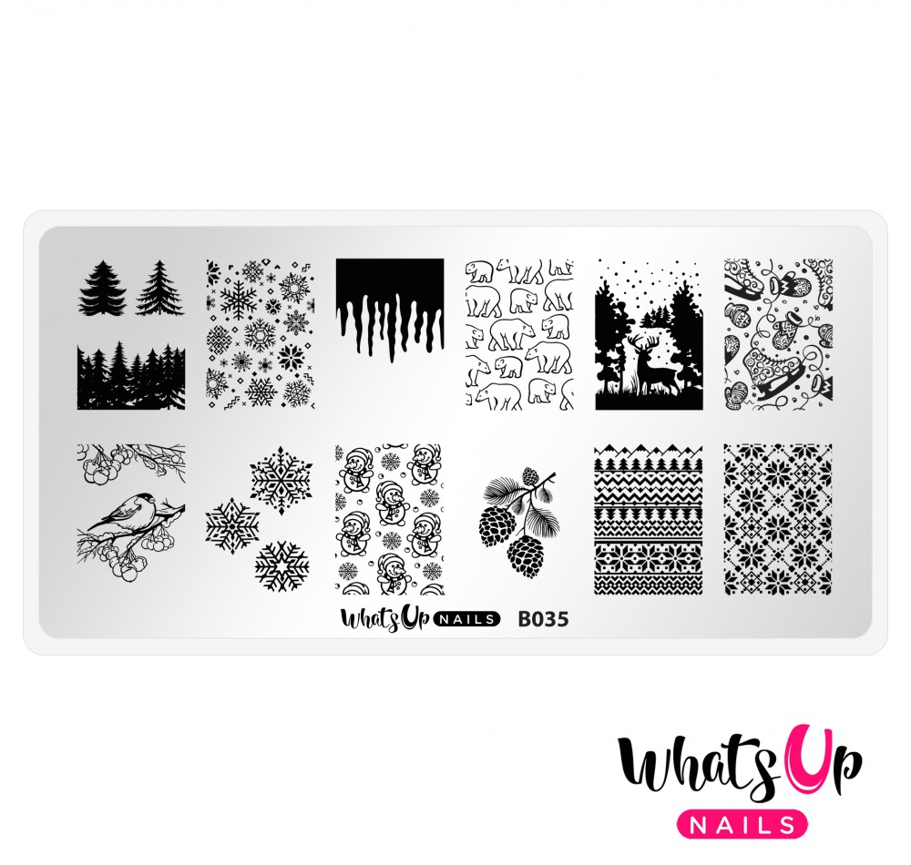 Пластина для стемпинга Whats Up Nails - B035 Icy Wonderland