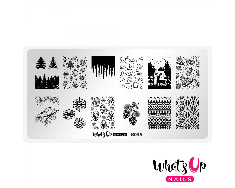 Пластина для стемпинга Whats Up Nails - B035 Icy Wonderland