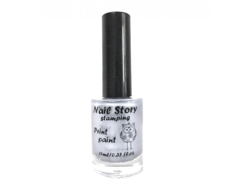 Лак для стемпинга Nail Story - Shine серебро