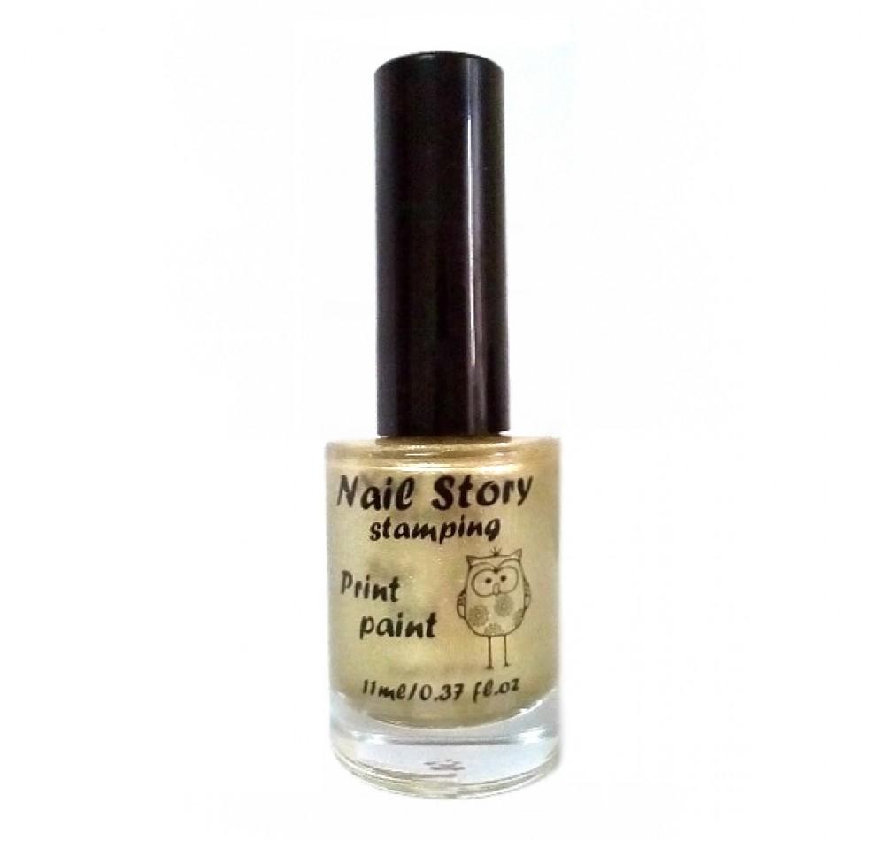 Лак для стемпинга Nail Story - Shine 01 золото