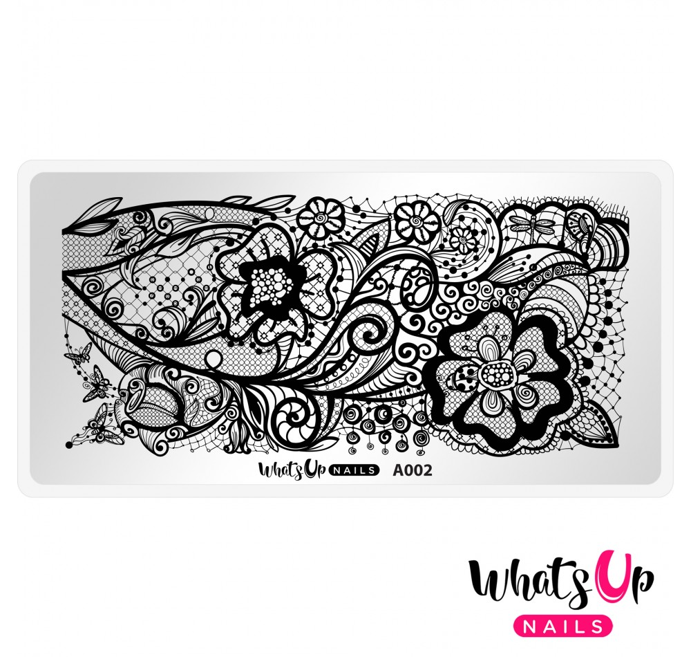 Пластина для стемпинга Whats Up Nails - A002 Classy and Sassy