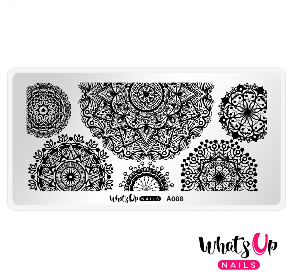 Whats Up Nails - A008 Mandala Blossoms