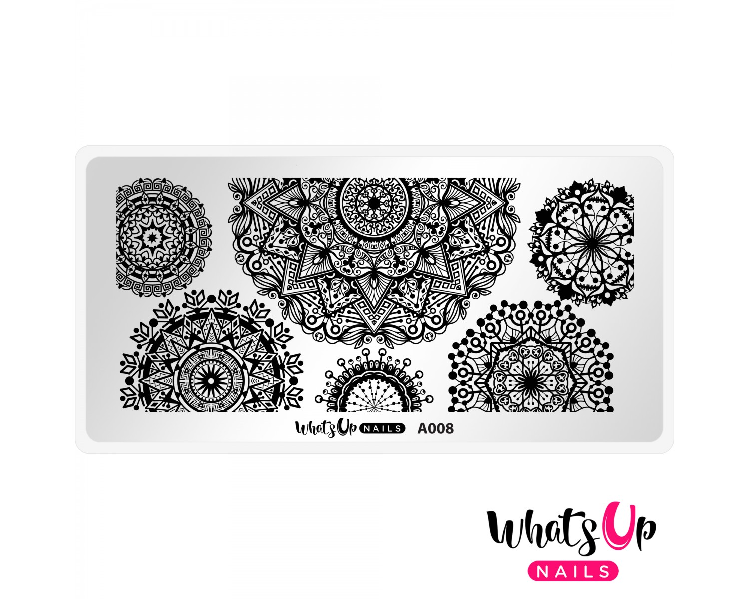 Пластина для стемпинга Whats Up Nails - A008 Mandala Blossoms
